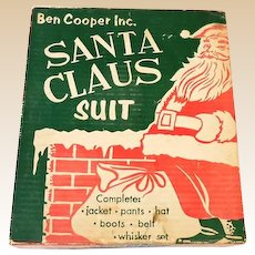1950s Santa Claus Suit Costume in Original Box