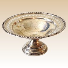 Vintage Crosby Pedestal Sterling Silver Candy Dish Nut Dish Compote