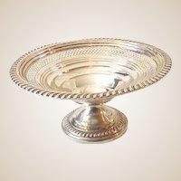 Empire Silver Co. Pedestal Sterling Silver Candy Dish Nut Dish Compote