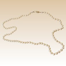24 Inch Necklace Faux Pearls With Fancy Clasp