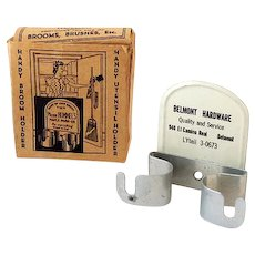 Tin Litho Advertising Promotion Broom Holder in Original Box