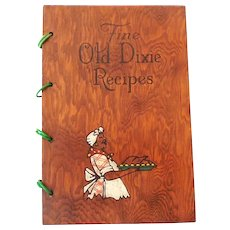 1939 Black Americana Southern Dixie Cookbook Wood Covers