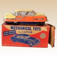 1950s Friction Motor LUPOR Tin Toy Family Sedan In Original Box