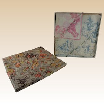 Vintage Childrens Handkerchiefs in Original Box