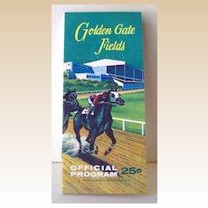 1963 Golden Gate Fields Race Track Program