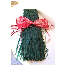 Vintage 1970's Grass Skirt & Bra Hawaiian Costume
