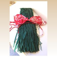 Vintage 1970's Grass Skirt & Bra Hawaiian Costume