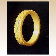 Deeply Carved Chunky Original 1930's Bakelite Bracelet