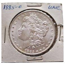 1885 O Brilliant Uncirculated Morgan dollar