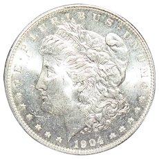 1904 O Uncirculated Morgan (Liberty Head) Dollar with Toning