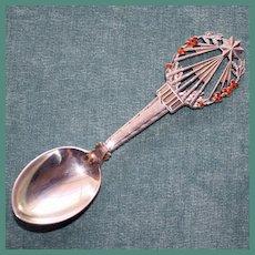A. Michelsen 1922 Christmas Spoon, Sterling & Enamel