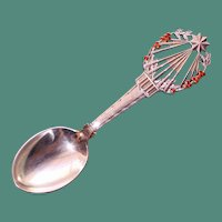 A. Michelsen 1922 Christmas Spoon, Sterling & Enamel