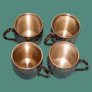 Set of 4 Vintage Towle Silverplate Cups 2.5 Inches Tall