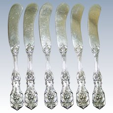 Set of 6 Francis I Sterling Butter Knives, Old Marks