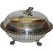 1889 Elkington Covered Silverplate Bowl with Acorn Finial
