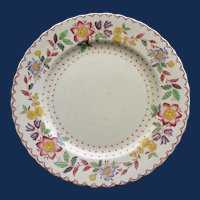 "Antique English Masons ""Arbor"" Ironstone Plate, 7 7/8 Inches"