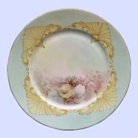 1906 French Limoges Fish Plate, Signed Arnold #1