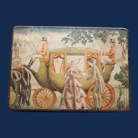 "Antique ""Horse and Carriage"" Bamberger Candies Tin, Newark, N.J."