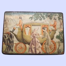 """Antique """"Horse and Carriage"""" Bamberger Candies Tin, Newark, N.J."""