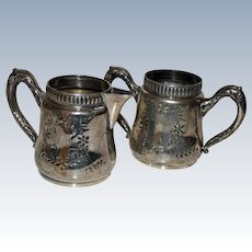 Antique Matching Barbour Silver Co. Sugar and Creamer