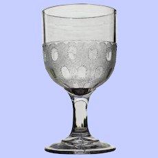 """Beaded Frog's Eye"" Goblet, Early American Pattern Glass"