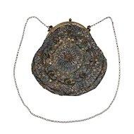 Antique Purse with Metallic Threads