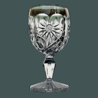 """Set of 4 """"Big Daisy"""" Goblets, Early American Pattern Glass"""