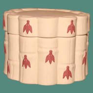 Wedgwood Jasperware Covered Box in Terra Cotta and Primrose