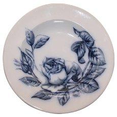Set of 4 Antique English Blue & White Bowls, Rose Crescent,  Stoke on Trent