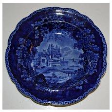 William Adams c. 1825 Historical Blue Deep Plate or Bowl