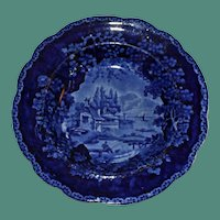 William Adams c. 1825 Historical Blue Deep Plate or Bowl