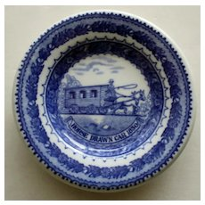"Baltimore & Ohio Railroad China (Shenango) Butter Pat ""Horse Drawn Car 1830"""