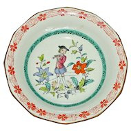 "Vintage Adams Calyx Ware Bowl Featuring ""The Piper"" 7621"