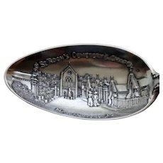 St. Roch's Cemetery & Chapel: New Orleans, Sterling Souvenir Spoon