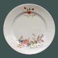 Set of 4 Charles Field Haviland Limoges Plates, Garden Flowers, 9.5 Inches