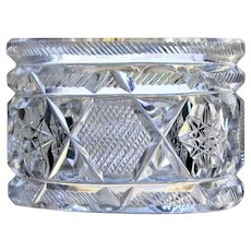 Antique American Brilliant Period Cut Glass Napkin Ring