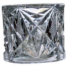 Cut Glass Brilliant Period Napkin Ring