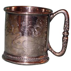 Reed and Barton Antique Silver Plate Child's Mug or Cup