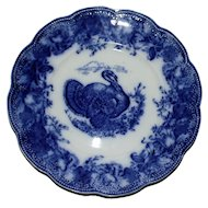 """Wedgwood Flow Blue """"Clytie"""" Antique Turkey Plate for Thanksgiving"""