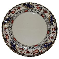 Antique English Copeland Dinner Plate with Imari Colors
