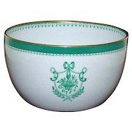 Antique Copeland Spode Bowl Newburyport Green