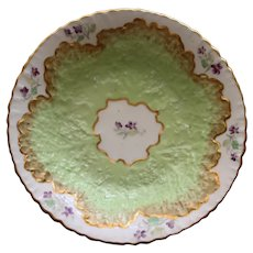 Antique English Copeland Berry Bowl, Exquisite Leaf Design