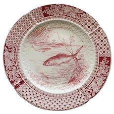 1867-1890 Antique W. T. Copeland English Fish Plate