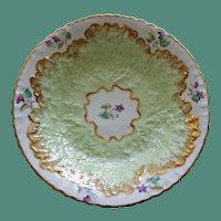 Set of 4 Antique English Copelands Berry Bowls, Exquisite Leaf Design