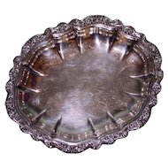 Scalloped Silver Plate Candy/Nut Dish, Countess by International Silver