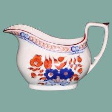 c. 1820 Soft Paste Creamer with Enameling