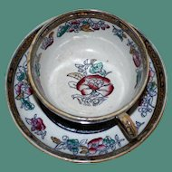 Early Staffordshire Cup and Saucer by Hope and Carter