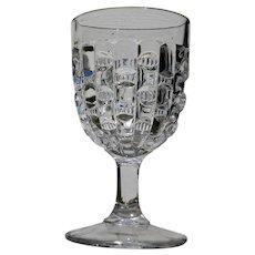 """Cut Log"" Goblet, Early American Pattern Glass"