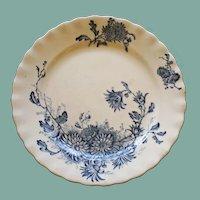 "Antique Porcelain Plate, Keeling & Co., Late Mayers,  ""Daisy"" Pattern, c. 1895"