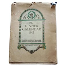 Dinner Calendar 1917  -  Menus and Recipes, by Fannie Merritt Farmer